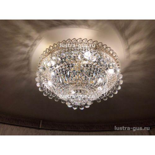Люстра Водопад шар, диаметр 600 мм, золото
