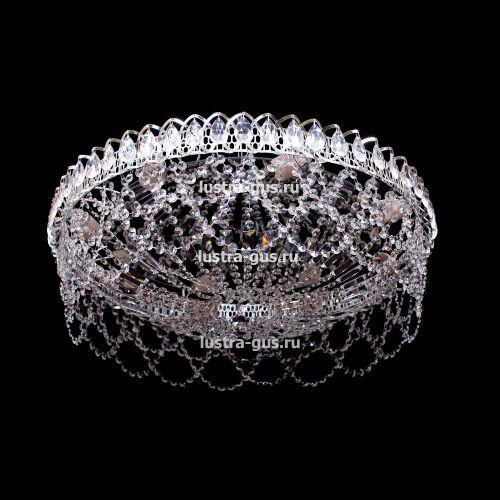 Люстра Люстра Водоворот Ажур, диаметр 600 мм, серебро, Люстры Гусь Хрустальный