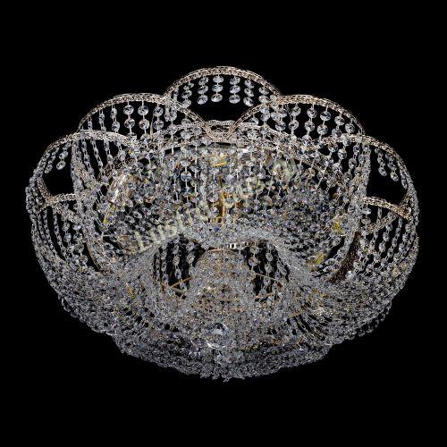 Люстра Пион Антик, диаметр - 700 мм, цвет - золото Гусь Хрустальный