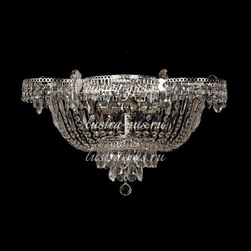 Люстра Ромашка 5 ламп, серебро