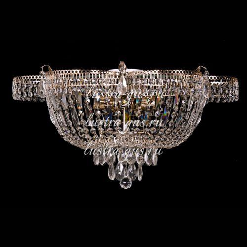 Люстра Ромашка, диаметр 560 мм,  5 ламп, золото