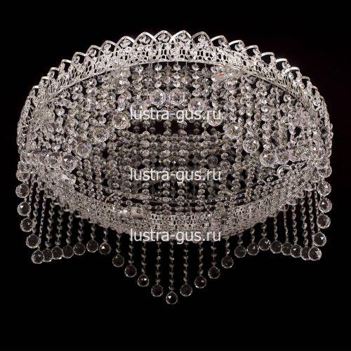 Люстра Сапфир, диаметр 700 мм, серебро, Люстры Гусь Хрустальный