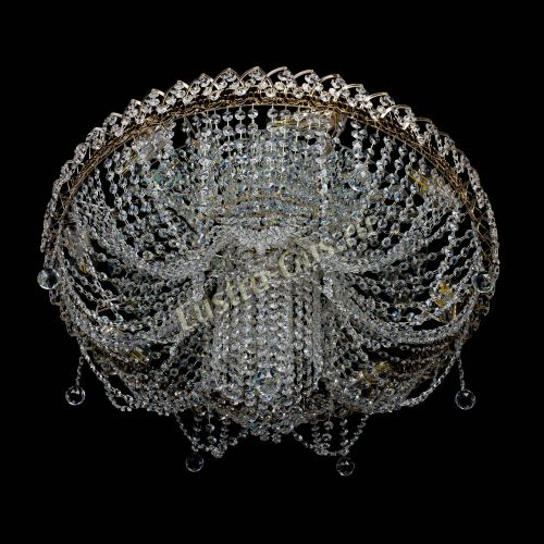 Люстра Вероника, диаметр 700 мм, цвет золото Гусь Хрустальный