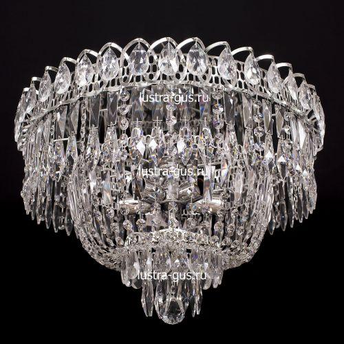Люстра Водопад Перо, диаметр 450 мм,  цвет серебро