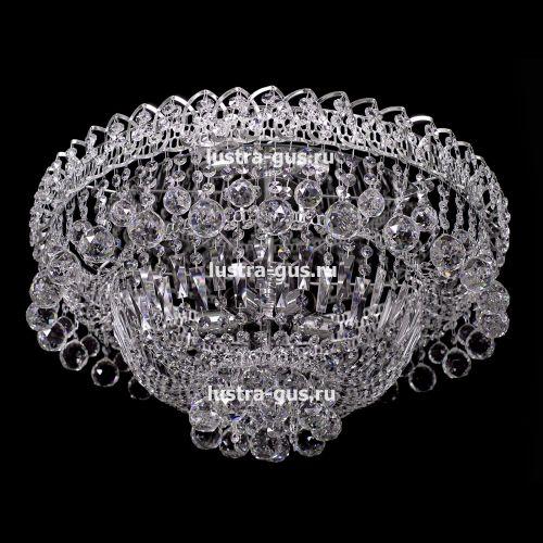 Люстра Водопад шар, диаметр 450 мм, серебро