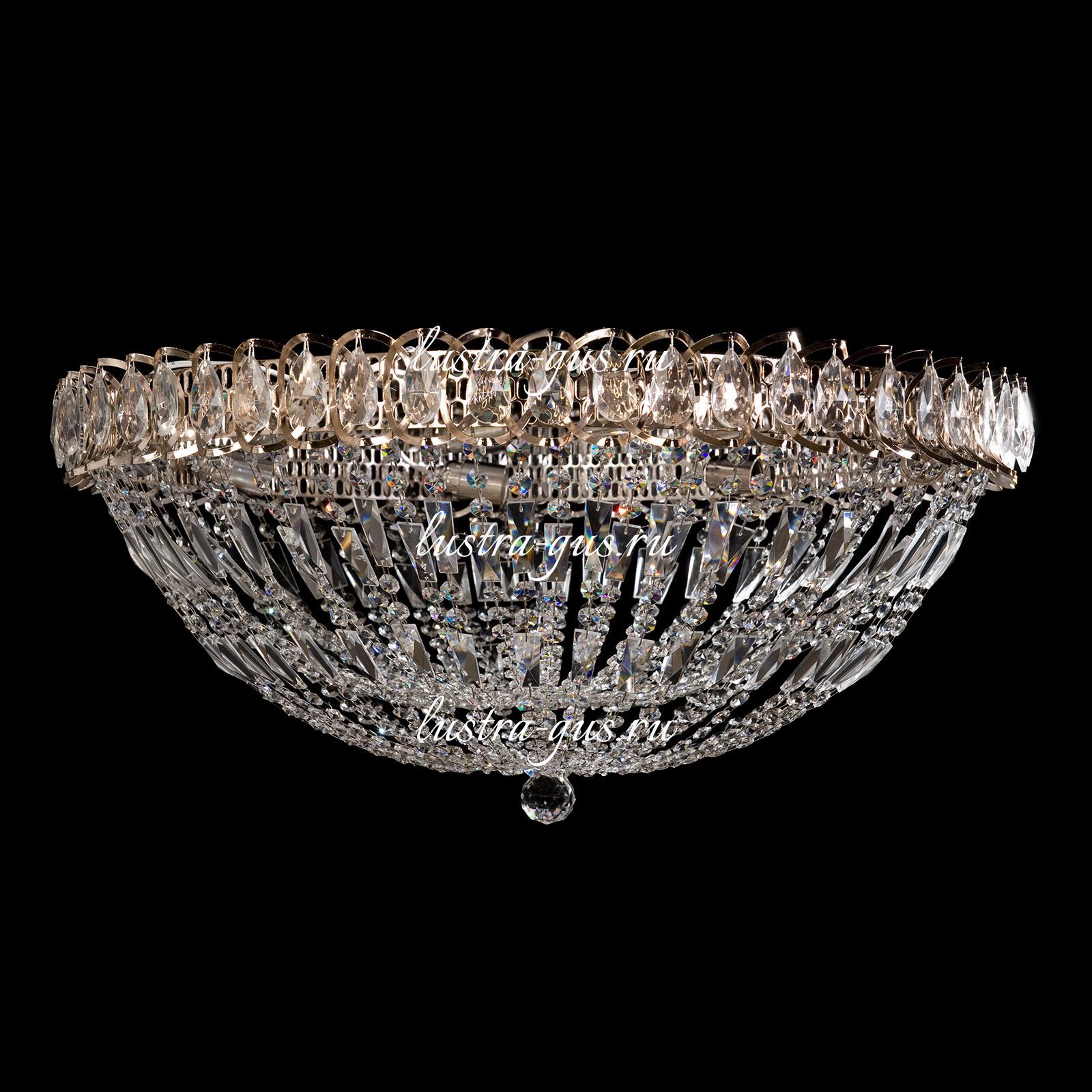Люстра Водоворот Купол 2, 700 мм, золото
