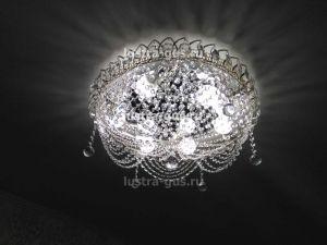Хрустальная люстра Роза Водоворот, диаметр 450 мм,  (завод Гусь-Хрустальный) в интерьере квартиры