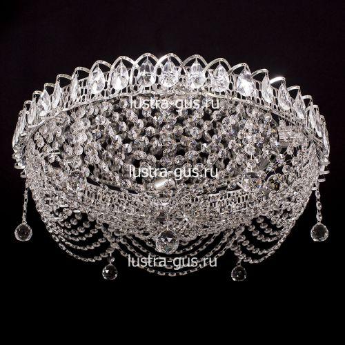 Люстра Роза Водоворот, диаметр 500 мм, цвет серебро