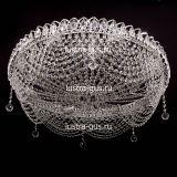 Люстра Роза Водоворот, диаметр 700 мм, цвет серебро, Люстры Гусь Хрустальный