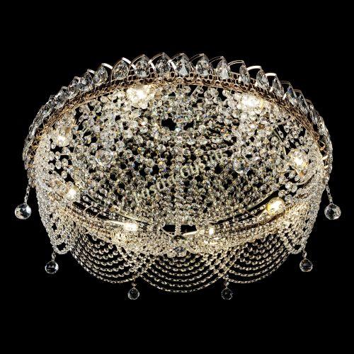Люстра Жасмин №1, диаметр - 700 мм, цвет - золото, Люстры Гусь Хрустальный