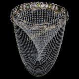 Люстра Жасмин Веер зеленый, диаметр - 600 мм, цвет - золото, Люстры Гусь Хрустальный