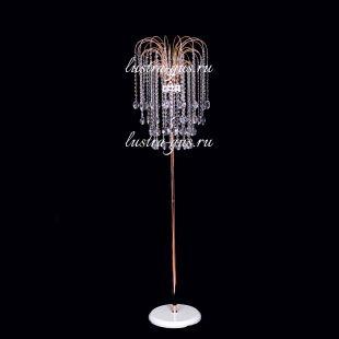 Напольный светильник с хрусталем Торшер 4 медальон